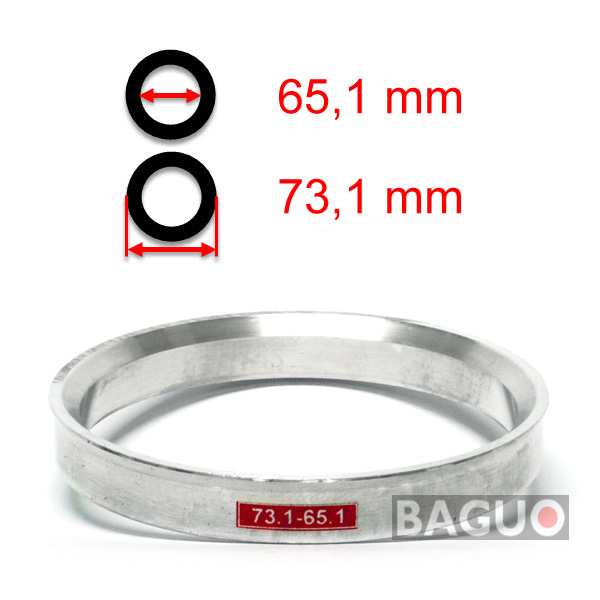 Bague de centrage en aluminium 73,1 - 65,1 mm ( 73.1 - 65.1 )
