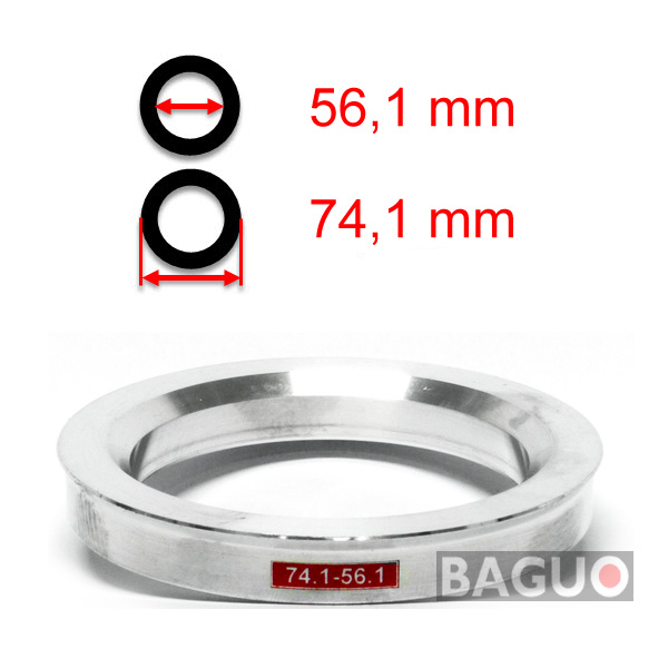 Bague de centrage en aluminium 74,1 - 56,1 mm ( 74.1 - 56.1 )