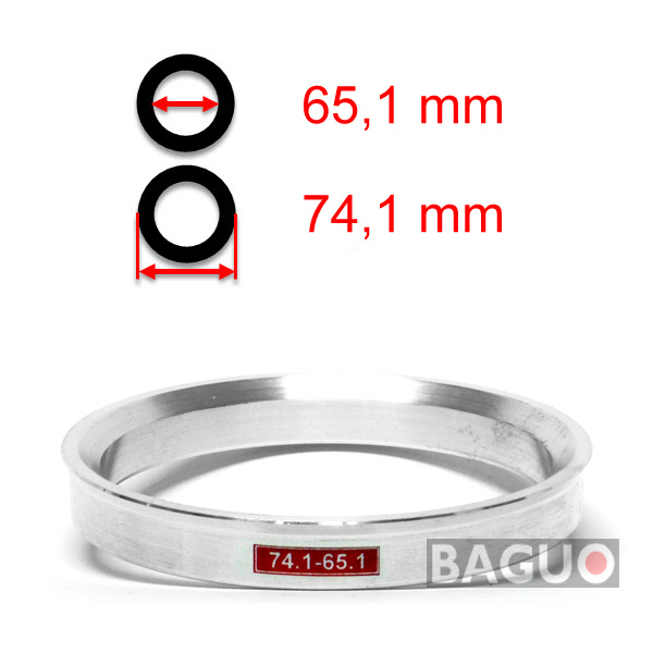 Bague de centrage en aluminium 74,1 - 65,1 mm ( 74.1 - 65.1 )