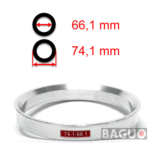 Bague de centrage en aluminium 74,1 - 66,1 mm ( 74.1 - 66.1 )