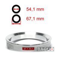 Bague de centrage en aluminium 67,1 - 54,1 mm ( 67.1 - 54.1 )