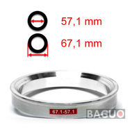 Bague de centrage en aluminium 67,1 - 57,1 mm ( 67.1 - 57.1 )