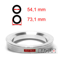 Bague de centrage en aluminium 73,1 - 54,1 mm ( 73.1 - 54.1 )