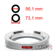 Bague de centrage en aluminium 73,1 - 56,1 mm ( 73.1 - 56.1 )