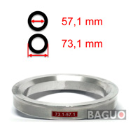 Bague de centrage en aluminium 73,1 - 57,1 mm ( 73.1 - 57.1 )