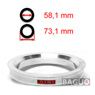 Bague de centrage en aluminium 73,1 - 58,1 mm ( 73.1 - 58.1 )
