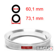 Bague de centrage en aluminium 73,1 - 60,1 mm ( 73.1 - 60.1 )
