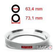 Bague de centrage en aluminium 73,1 - 63,4 mm ( 73.1 - 63.4 )