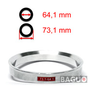 Bague de centrage en aluminium 73,1 - 64,1 mm ( 73.1 - 64.1 )