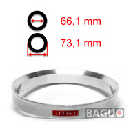 Bague de centrage en aluminium 73,1 - 66,1 mm ( 73.1 - 66.1 )