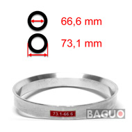 Bague de centrage en aluminium 73,1 - 66,6 mm ( 73.1 - 66.6 )