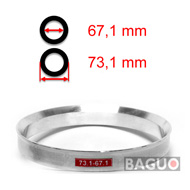Bague de centrage en aluminium 73,1 - 67,1 mm ( 73.1 - 67.1 )