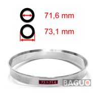 Bague de centrage en aluminium 73,1 - 71,6 mm ( 73.1 - 71.6 )