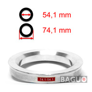 Bague de centrage en aluminium 74,1 - 54,1 mm ( 74.1 - 54.1 )