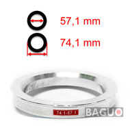 Bague de centrage en aluminium 74,1 - 57,1 mm ( 74.1 - 57.1 )
