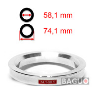 Bague de centrage en aluminium 74,1 - 58,1 mm ( 74.1 - 58.1 )