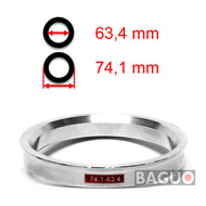 Bague de centrage en aluminium 74,1 - 63,4 mm ( 74.1 - 63.4 )