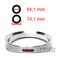 Bague de centrage en aluminium 74,1 - 64,1 mm ( 74.1 - 64.1 )