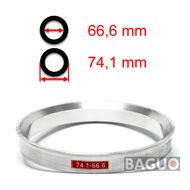 Bague de centrage en aluminium 74,1 - 66,6 mm ( 74.1 - 66.6 )