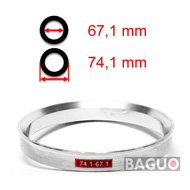 Bague de centrage en aluminium 74,1 - 67,1 mm ( 74.1 - 67.1 )